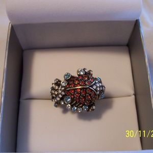 HEIDI DAUS KOI FISH CRYSTAL RING 9 RETIRED